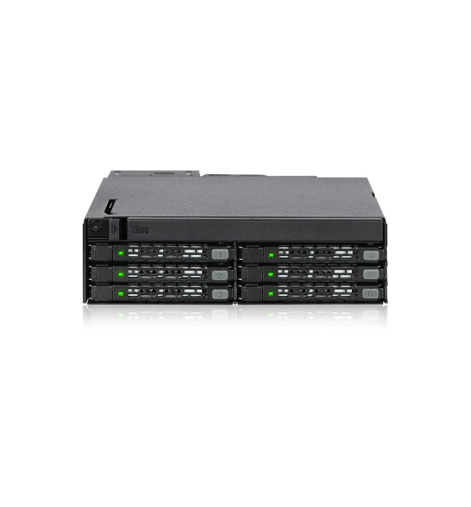 """Kieszeń 6 x 2,5 """"SAS / SATA SSD / HDD i Ultra Slim ODD do zewnętrznej wnęki 5,25"""" (ToughArmor MB606SPO-B)"""