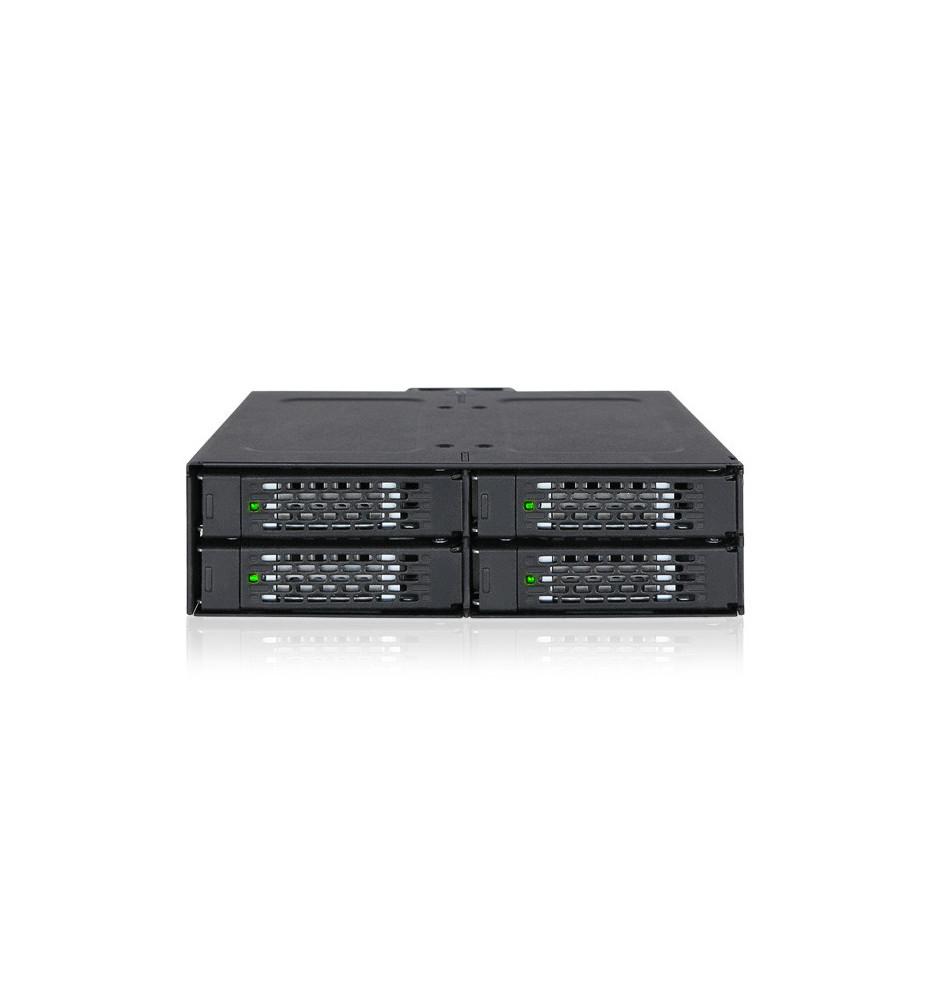 """Metalowa kieszeń 4 dyskowa 2,5"""" SAS / SATA SSD i HDD (ToughArmor MB607SP-B)"""
