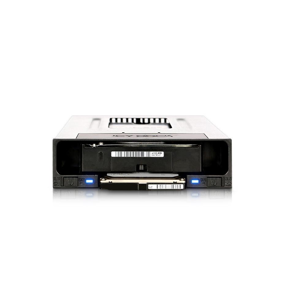 """2.5"""" i 3.5"""" SATA SSD/HDD Kieszeń / Stacja dokująca do wewnętrznej zatoki 5.25"""" (flexiDOCK MB795SP-B)"""