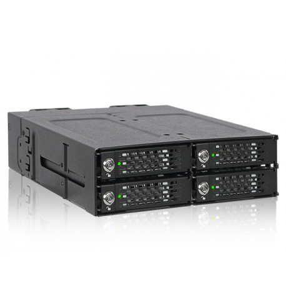 Full Metal 4 Bay M.2 NVMe SSD Mobile Rack (MB720M2K-B)