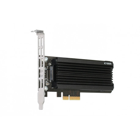 Adapter 1 x M.2 NVMe SSD to PCIe 3.0 x4 Adapter with Heat Sink & PCIe Bracket (EZConvert Ex Pro MB987M2P-1B)