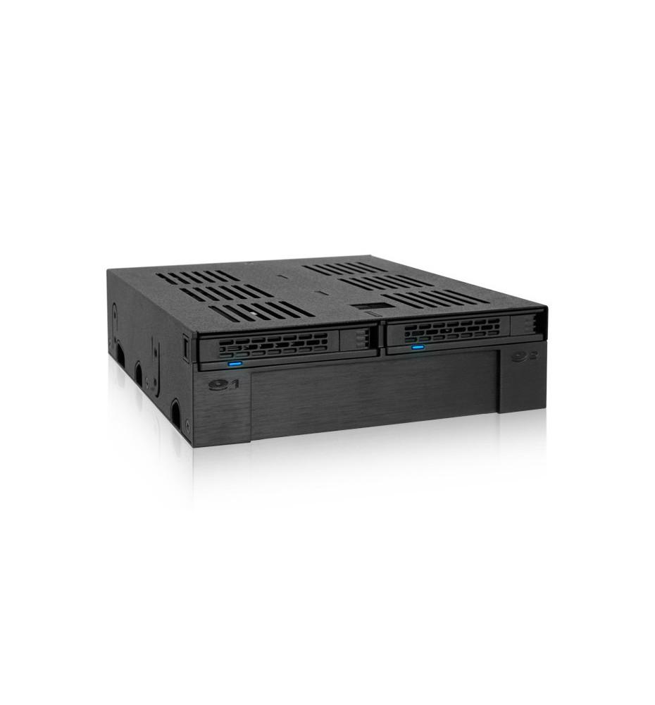 """ExpressCage MB322SP-B 2-Dyskowa 2.5"""" SAS/SATA HDD & SSD Wewnętrzna Obudowa 5.25"""" z Zatoką 3.5"""" Urządzenie/HDD Slot"""