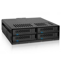 """ExpressCage MB324SP-B 4-Dyskowa 2.5"""" SAS/SATA HDD & SSD Hot Swap Wewnętrzna Obudowa 5.25"""""""