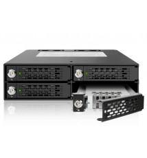 """ToughArmor MB994SK-1B Metalowa 4-Dyskowa Kieszeń 2.5"""" SATA/SAS HDD & SDD z Kluczem"""