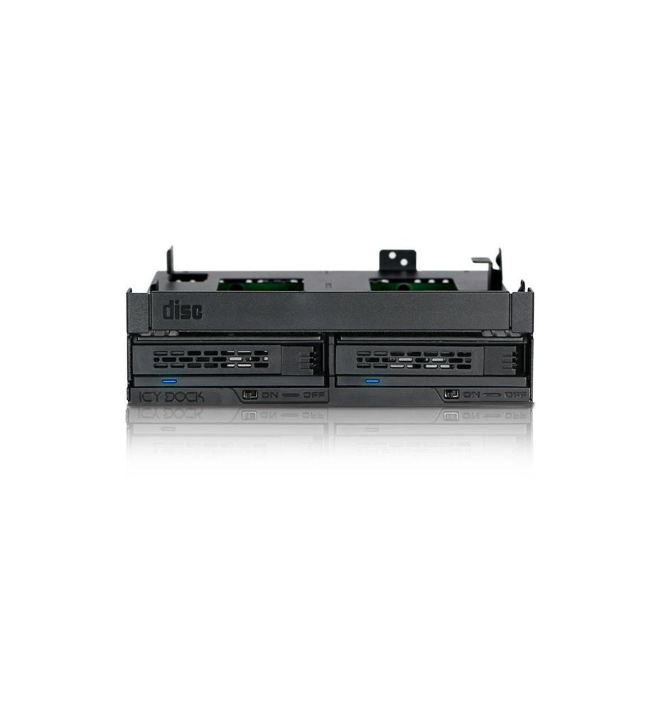 "Kieszeń Ultra Slim/Slim ODD & Dual 2.5"" SAS/SATA HDD/SSD Hot Swap 5.25"" ODD Bay"