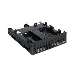 "Tool-less 4x 2.5"" SSD / HDD & Slim / Ultra-Slim ODD Mounting Bracket for 5.25"" Bay"